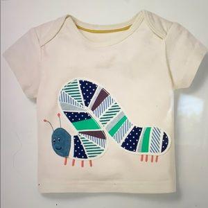 Boden Baby Boden Caterpillar Appliqué t-shirt